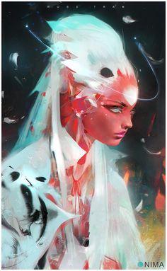 Foxy Fantasy Girl by Ross Tran aka Ross Draws Arte Sci Fi, Sci Fi Art, 3d Fantasy, Fantasy Girl, Illustrations, Illustration Art, Character Concept, Character Art, Arte Dope