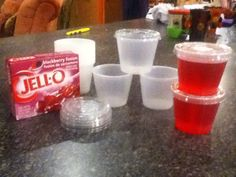 Large batches of Jello with the cold water cut to 1 Cup, put in mini solo cups with lids (restruant supply store), and chill! Saves money, they taste better than the store brands, and we are never out of Jello! Cold Lunches, Prepped Lunches, Lunch Snacks, Healthy Snacks, Lunch Box, School Snacks For Kids, Cold Lunch Ideas For Kids, School Lunches, Toddler Meals