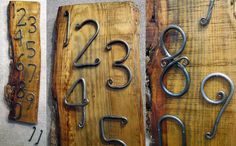 Hand-forged house numbers - Eclipse Artisan Boutique in Wilmington NC