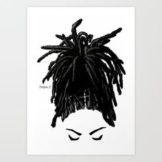 The Crown You Will Always Wear 4 Mini Art Print by April Cooper - Without Stand - x Black Love Art, Black Girl Art, Art Girl, Black Girl Dreads, Dreads Girl, Artwork Prints, Fine Art Prints, Tableau Pop Art, Drawings Of Black Girls