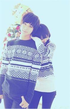 Matching winter sweaters!