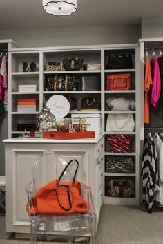 Martha O'Hara Interiors - closets - walk-in closet, closet built-ins, closet storage, closet organization, organized closet, custom closet, ...