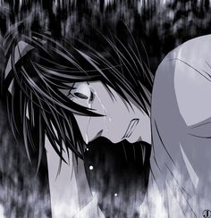 L Lawliet _Death Note. No! Why is he crying!? Crap now IM crying