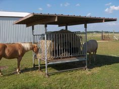 covered round bale feeders for horses - Yahoo Image Search Results Horse Shed, Horse Stables, Horse Barns, Horse Slow Feeder, Hay Feeder For Horses, Hay Hut, Round Bale Feeder, Reptiles, Horse Shelter