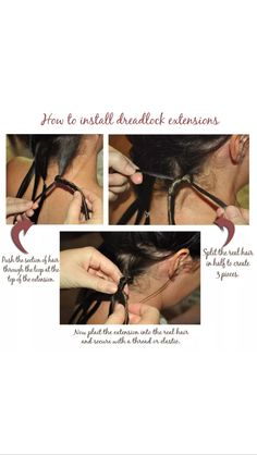 Install dreadlocks extensions