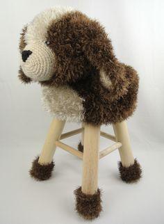 Dieren kruk hond Haakpret Crochet Books, Crochet Home, Crochet For Kids, Crochet Baby, Knit Crochet, Crochet Animal Patterns, Stuffed Animal Patterns, Crochet Animals, Knitting Projects