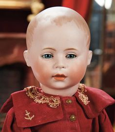 Lot: German Bisque Toddler, D.V. with Sleep Eyes by Swaine and Co. 900/1200 | Proxibid Auctions