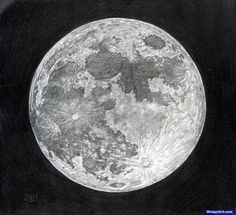 How to draw the moon. Step by step!