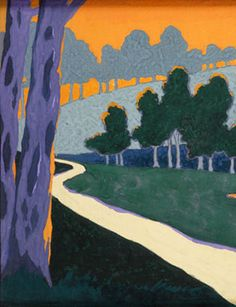 Georges Lacombe, Landscape, circa 1894 gouache on paper - Georges Lacombe (schilder) - Wikipedia