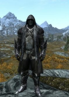 """""""Evil Overlord"""" by Ocean Splitter  Ulfric's Clothes  Ebony Boots and Gauntlets  Nightingale Hood"""