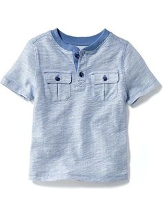 Henley Pocket Tee for Baby Product Image Kids Clothes Boys, Toddler Boy Outfits, Toddler Boys, Kids Outfits, Boys Kurta Design, Polo Outfit, Baby Boy Dress, Stylish Boys, Kids Fashion Boy