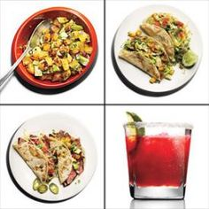 Start with a warm 6-inch corn tortilla. Pick from these tasty topping combos to create a perfectly portioned 200-calorie taco. Healthy,