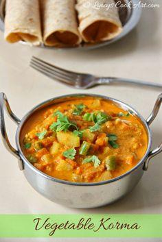 Mixed Vegetable Korma/ Easy Vegetable Kurma