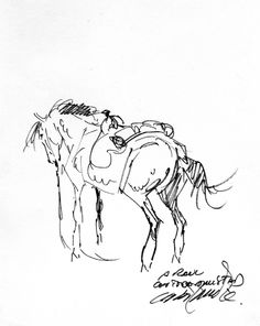 Title: Victor De La Fuente Horse Sketch Artist: Victor De La Fuente (All) Media Type: Pen and Ink Art Type: Sketchbook For Sale Status: NFS Western Comics, Dog Logo, Gesture Drawing, Cowboy And Cowgirl, Ink Illustrations, Equine Art, Doodle Drawings, Cowgirls, Drawing People