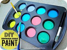 RACKS and Mooby: DIY Sidewalk Chalk Paint {fun kid activity!}