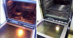 Clean your oven in two steps: First you have to clean the oven from the inside and then the window. Things you are going to need for the cleaning: A towel A small bowl Vinegar Water Spray bottle Baking soda The cleaning procedure: Remove the oven's racks Oven Cleaner, Keep It Cleaner, Cleaning Solutions, Cleaning Hacks, Cleaning Recipes, Cleaning Oven Racks, Limpieza Natural, Cleaners Homemade, Natural Cleaning Products