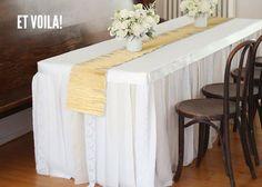 DIY Fabric Tablecloth