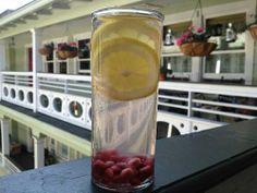 lemon pomegranate infused water
