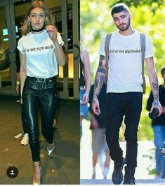 "Who says ""it's fake"" you know what young girl you are a bullshit Gigi Hadid Looks, Gigi Hadid Style, Tyga And Kylie, Gigi Hadid And Zayn Malik, Malik One Direction, Gigi Hadid Outfits, Zayn Mailk, My Guy, Couple Goals"