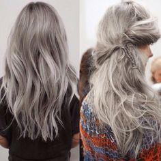 Cabello gris fotos cabello plateado   Swagger