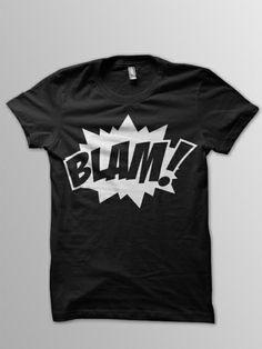 Superhelden T-Shirt Blam! Comic von thebuttonmaker.de auf DaWanda.com