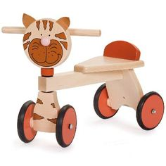 www.hastings-crystal.co.uk >> Special Occasions >> Christmas >> Gifts By Recipient >> Gifts For Infants >> Cat Walker Ride On Wooden Toy