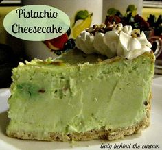 Lady Behind The Curtain - Pistachio Cheesecake