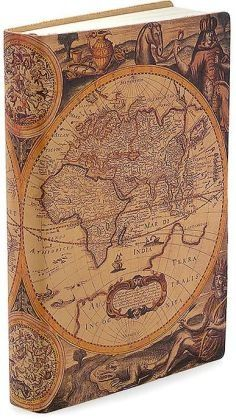 Old world map small travel journal notebook sketchbook antique map printed italian leather journal x by barnes gumiabroncs Gallery