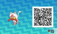 Shiny Litten with QR code