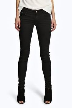 Evie Low Rise Super Skinny Jeans at boohoo.com