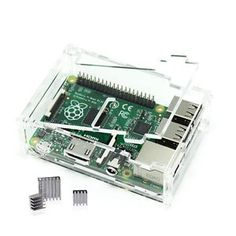 Clear-Case-with-3-Pcs-Aluminum-Heatsink-Cooler-Cooling-Kit-for-Raspberry-Pi-3