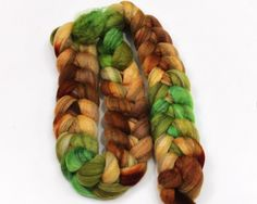 Mixed BFL Wool Roving - Hand Dyed Roving for Felting or Spinning - 6 oz. $27.00, via Etsy.