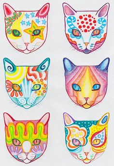 How to Draw a Cat: Learn How to Create a Unique Colorful Cat Drawing