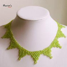 green triangular necklace