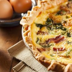 Make your own or pick one up from any of our stores, we have fresh made quiche every day! Quiche Recipes, Brunch Recipes, Vegan Recipes, Dessert Recipes, Desserts, Vegan Junk Food, Vegan Sushi, Vegan Baby, Breakfast Quiche