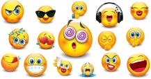 This gallery is filled with big-size smileys! Find angels, devils, and other cool smileys ranged between! Animated Smiley Faces, Funny Emoji Faces, Animated Emoticons, Emoticon Faces, Funny Emoticons, Emoji Characters, Disney Cartoon Characters, Smiley Horror, Praying Emoji
