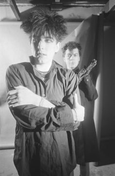 Robert Smith and Laurence Tolhurst