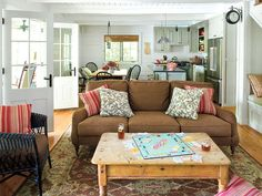 Farmhouse Chic Living Room | Louisiana Luxury Living Room Like the couch!