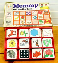 Vintage Memory Matching Game - Pinterest is the new version! : )
