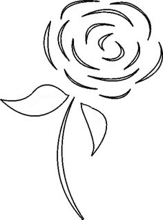 Have some creative fun with my collection of flower stencils, which you're free to use for your personal craft projects.: Free Flower Stencil: Rose