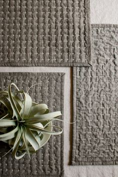 DIY Reversible Sashiko Placemats: Lovely Tutorial from Molly's Sketchbook on The Purl Bee. Wonder what these would be like with my fancy fabric?