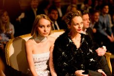 Lily-Rose Depp and Vanessa Paradis, both in Chanel