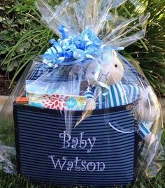 New gift for a baby boy.  Personalize it with Thirty-One #baby #newbaby #babygift #thirtyone #uniquegift