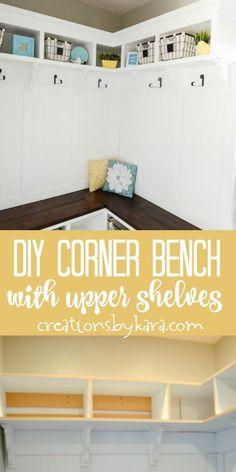 DIY Corner Bench wit