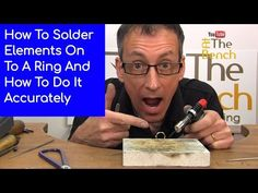 Soldering On Elements Onto A Ring - Making Silver Ring With Embellishments At Home - YouTube