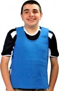 Sensory Integration & Weighted Vests-Children who are easily distracted, hyperactive, and lacking in concentration respond positively to the additional weight or pressure a vest provides. Pinned by SOS Inc. Resources.  Follow all our boards at http://pinterest.com/sostherapy  for therapy resources.
