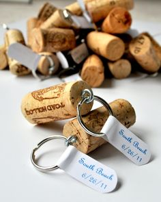 wine cork key chains