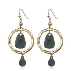 Shineland Ethnic Vintage Geometric Antique Cooper Drop Earring Brincos For Women New 2016 Hot Sale Fashion Statement Jewelry