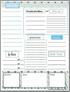 Daily Planner Sheet Printable  Organize Your Life On One Sheet