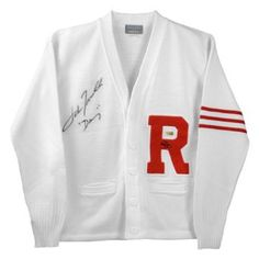 John Travolta Autographed Grease Rydell Letterman Sweater with Danny Inscription, 2016 Amazon Most Gifted Wardrobe Items  #Collectibles